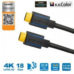 1,8m Cable HDMI 2.0 Premium HQ 4K Certificado Logilink CHB004