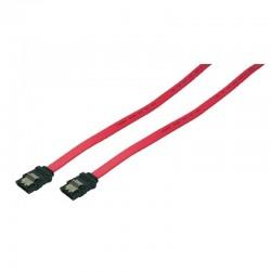 0,75m Cable Datos SATA 3 (6Gbs) con Clip Metálico Logilink CS0002