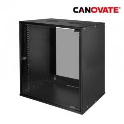 "Canovate W12C55B - Armario Rack Mural de 19"" 12U 0,8mm 545 x 400"