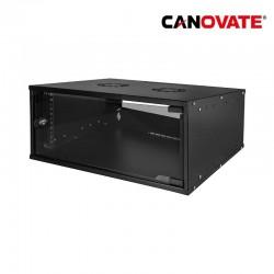 "Canovate W04C55B - Armario Rack Mural de 19"" 4U 0,8mm 545 x 400"