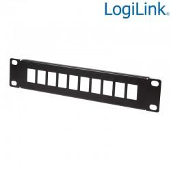 """Logilink ACT108 - Patch Panel vacio de 10 puertos para armario de 10"""" , Negro"""