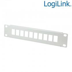 """Logilink ACT107 - Patch Panel vacio de 10 puertos para armario de 10"""" , Beige"""