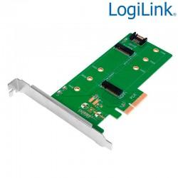 Loligink PC0083 - Tarjeta PCI Express dual M.2 para SSD SATA y PCIe SATA
