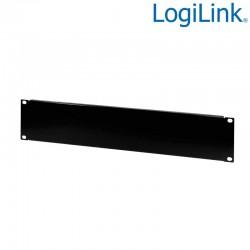 """Logilink PN102B - Panel ciego sólido de 19 """" 2U, negro"""