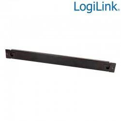 """Logilink PN105B - Panel ciego de 19 """", instalación a presión 1U, negro"""