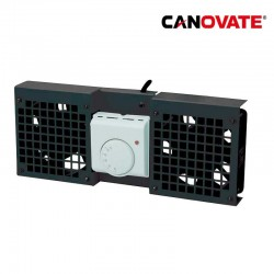 Canovate FAW101B - Unidad de ventilador para armarios de pared , 1 ventilador, negro