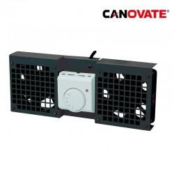 Canovate FAW102B - Unidad de ventilador para armarios de pared , 2 ventiladores, negro
