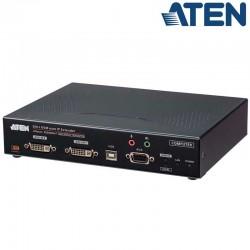Aten KE6940AiT - Transmisor KVM USB-DVI-I doble pantalla, Audio y RS232 sobre LAN y acceso a Internet