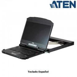 Aten CL3800NX - Consola LCD 18,5'', HDMI-DVI-VGA (1366 x 768)Dual Rail