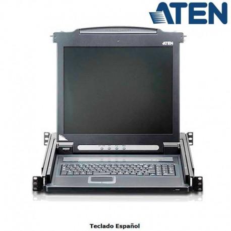 """Aten CL1000N - Consola VGA LCD 19"""" para Rack 19''   Marlex Conexion"""