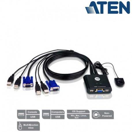 KVM de 2 Puertos USB VGA Aten CS22U