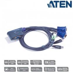 KVM de 2 Puertos USB VGA con Audio Aten CS62US