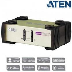 Aten CS82U - Conmutador KVM de 2 Puertos USB PS/2 VGA