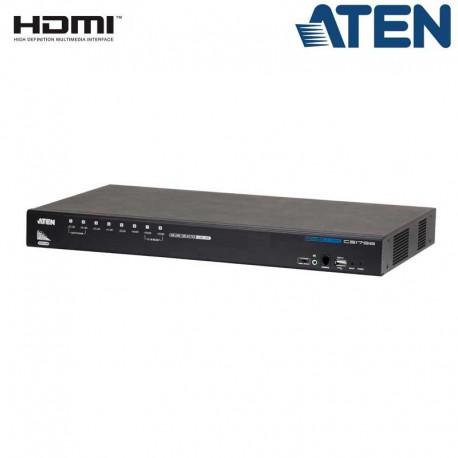 Aten CS1798 - KVM de 8 Puertos USB HDMI con Audio y Hub USB 2.0 para Rack 19''