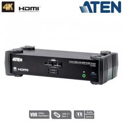 KVM de 2 Puertos USB 3.0 HDMI 4K Aten CS1822
