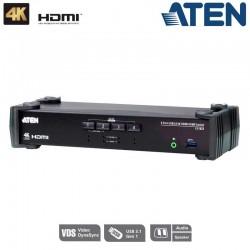 KVM de 4 Puertos USB 3.0 HDMI 4K Aten CS1824