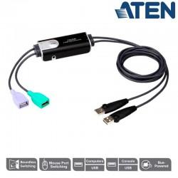 Conmutador KM de 2 Puertos para teclado y ratón USB Aten CS62KM
