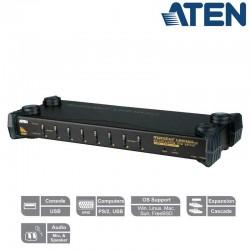 """Aten CS1758 - KVM de 8 Puertos USB PS/2 VGA con Audio para Rack 19"""""""