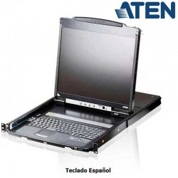 Aten CL5800 - Consola Monitor Teclado Ratón, Dual Rail para Rack 19''