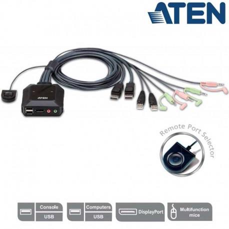 Aten CS22DP - KVM de 2 Puertos USB Display Port | Marlex Conexion