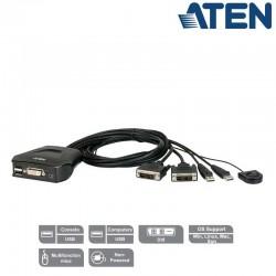 KVM de 2 Puertos USB DVI Aten CS22D