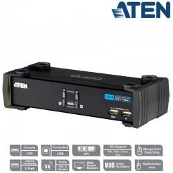 Aten CS1762A - KVM de 2 Puertos USB DVI con Audio y Hub USB 2.0