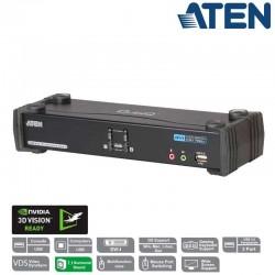 KVM de 2 Puertos USB DVI con Audio 7.1 y Hub USB 2.0 Aten CS1782A