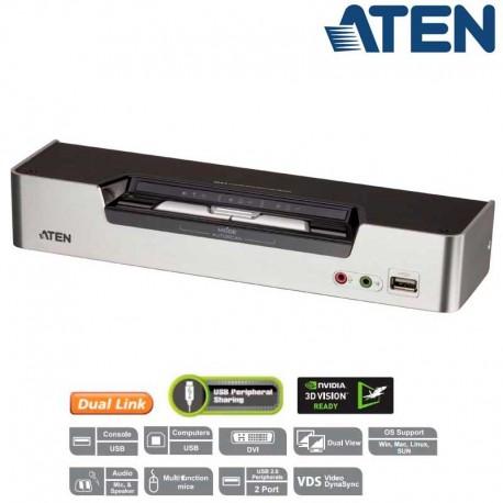 Aten CS1642A - KVM de 2 Puertos USB DVI Doble pantalla