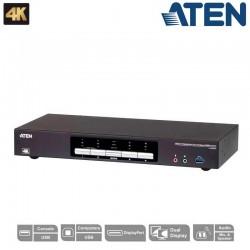 KVM de 4 Puertos USB 3.0 DisplayPort Dual View Aten CS1944DP