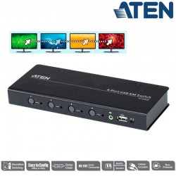 Conmutador KM USB sin límites de 4 puertos Aten CS724KM