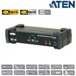 KVM de 2 Puertos MST USB 3.0 DisplayPort 1.2, 4K con Audio Aten CS1922M