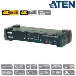 KVM de 4 Puertos MST USB 3.0 DisplayPort 1.2, 4K con Audio Aten CS1924M