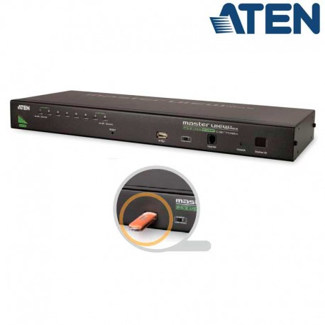 Aten CS1708A - KVM de 8 Puertos USB PS/2 VGA para Rack 19''