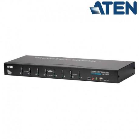 Aten CS1768 - KVM de 8 Puertos USB DVI con Audio y Hub USB 2.0