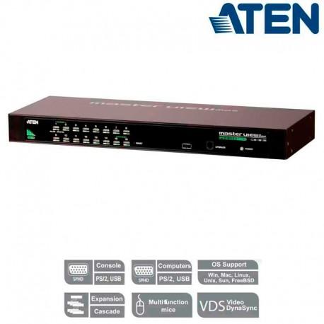 "Aten CS1316 - KVM de 16 Puertos USB PS/2 VGA para Rack 19"""