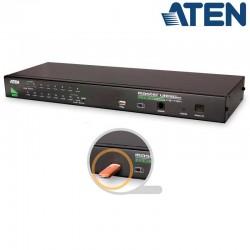 KVM de 16 Puertos USB PS/2 VGA , USB perif. para Rack 19'' Aten CS1716A