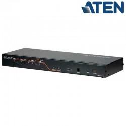 Aten KH2508A - KVM Cat 5e/6 de 8 Puertos, 2 Consolas, para Rack 19''