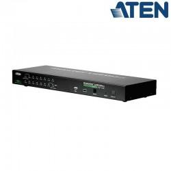 KVM de 16 Puertos USB PS/2 VGA Sobre IP (1 Local/Remoto) para Rack 19'' Aten CS1716i