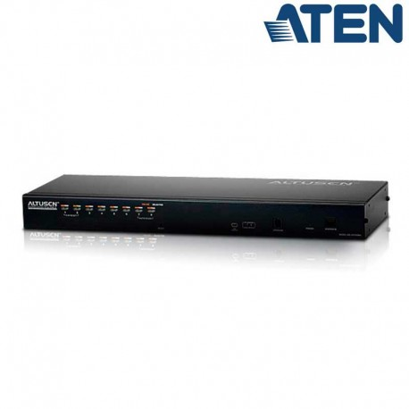 Aten KH1508AI - KVM Cat 5e/6 de 8 Puertos Sobre IP para Rack 19''