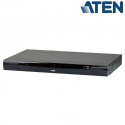 Aten KN1108VA - KVM Cat 5e/6 de 8 Puertos sobre IP de 2 buses con Audio y Virtual Media