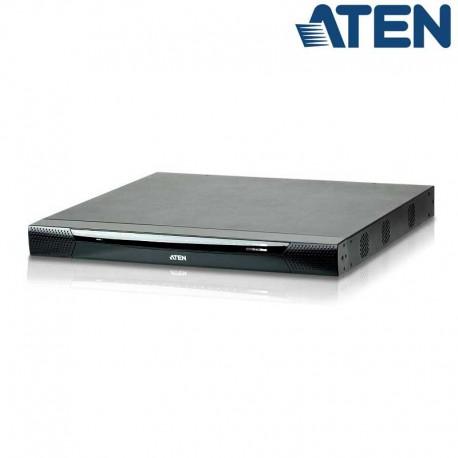 Aten KN2116VA - KVM Cat 5e/6 de 16 Puertos sobre IP de 3 buses con Audio y Virtual Media