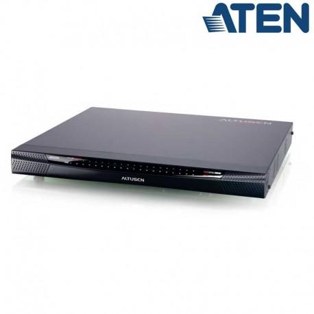 Aten KN4140VA - KVM Cat 5e/6 de 40 Puertos sobre IP de 5 buses con Audio y Virtual Media