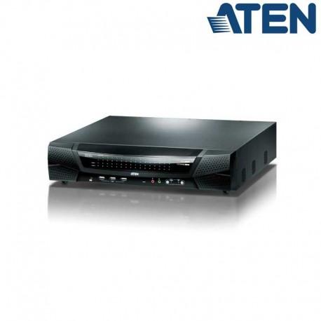 Aten KN4164V - KVM Cat 5e/6 de 64 Puertos sobre IP de 5 buses con Audio y Virtual Media