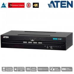 "Aten CS1144DP | KVM de 4 puertos USB DisplayPort Dual View ""secure"""