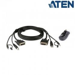 1,8m Kit de cable para KVM ''secure'' DVI-D USB con Audio Aten 2L-7D02UDX2