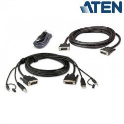 1,8m Kit de cable para KVM ''secure'' Dual DVI-D USB con Audio Aten 2L-7D02UDX3