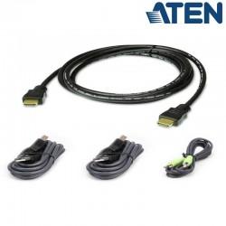 1,8m Kit de cable para KVM ''secure'' HDMI USB con Audio Aten 2L-7D02UHX4