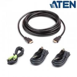 3m Kit de cable para KVM ''secure'' HDMI USB con Audio Aten 2L-7D03UHX4