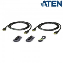 1,8m Kit de cable para KVM ''secure'' Dual HDMI USB con Audio Aten 2L-7D02UHX5