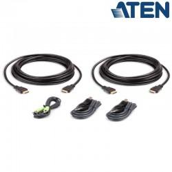 3m Kit de cable para KVM ''secure'' Dual HDMI USB con Audio Aten 2L-7D03UHX5